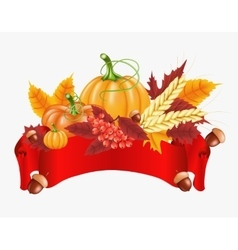 Happy Thanksgiving celebration background Autumn vector image vector image