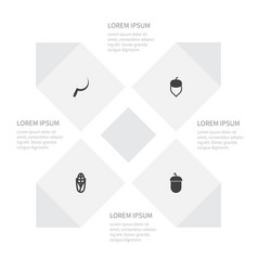 Icon dacha set of scythe hazel popcorn and other vector