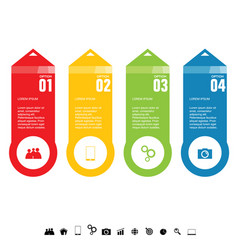 infographic set colored vector image vector image