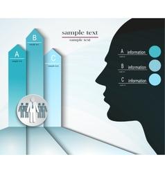infographics men abc vector image vector image