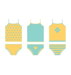 Kid underwear set Shirt and panties vector image