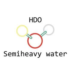 molecule hdo semiheavy water vector image