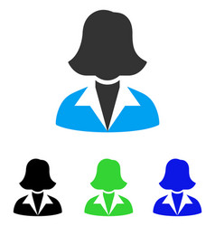 Office lady flat icon vector