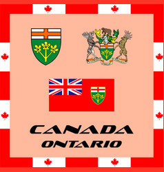 official government elements of canada - ontario vector image vector image
