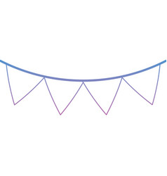 pennant banner icon image vector image