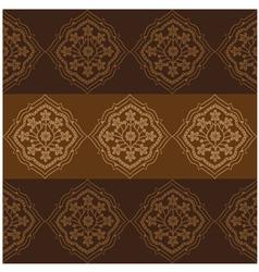 Persian Flower Pattern Brown vector image vector image