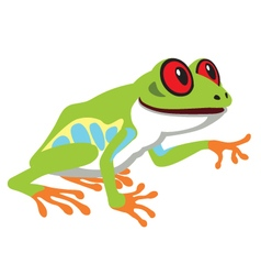 Red eye tree frog vector