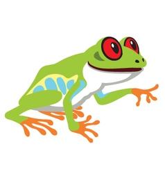 Red eye tree frog vector