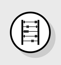 Retro abacus sign flat black icon in vector