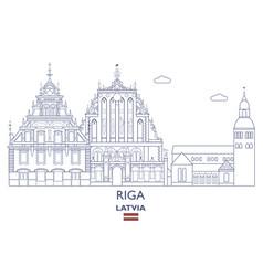 Riga city skyline vector
