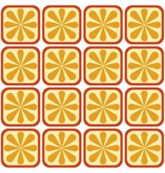 Seamless orange pattern vector