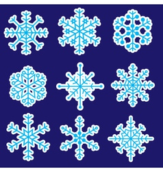snowflakes stickers icons eps10 vector image vector image