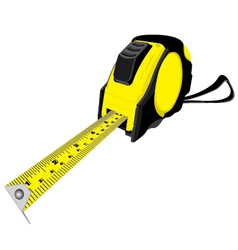 Tape measure isolated on white background vector image