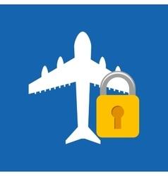 Travel airplane icon vector