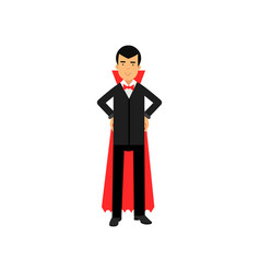 Vampire character posing with hands on a hip vector