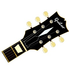 Guitar headstock vector