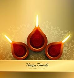 Diwali festival diya design vector