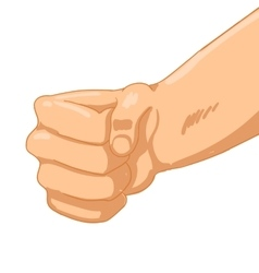 Man fist on white background vector
