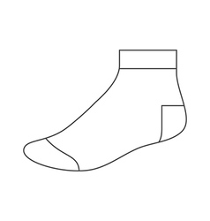 Sock template vector