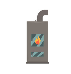 typical interior iron wood burning stove vector image
