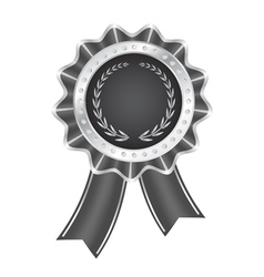 Gray award ribbon vector