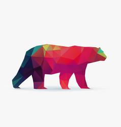 Polar bear polygon silhouette vector