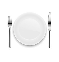 Plate with spoon isolated vector