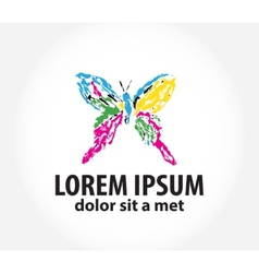 Template logo with butterfly vector