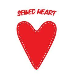 Sewed Handmade Heart vector image