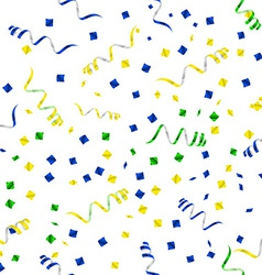 Party streamers seamless pattern vector