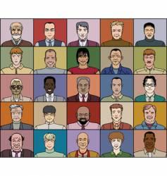 twenty five adult men vector image