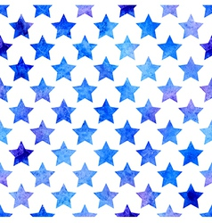 Seamless pattern with watercolor stars vector