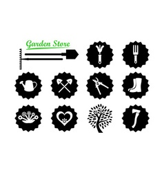 Set of Icons for Garden Website vector image