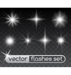 Glowing stars vector
