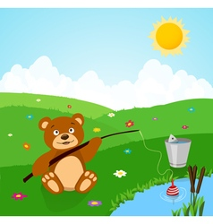 Bear cartoon vector
