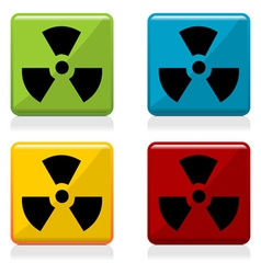 Radioactivity sign buttons vector