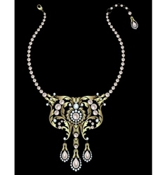 Necklace with pearls vector