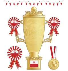 Poland football trophy vector