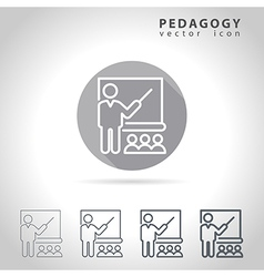 Pedagogy outline icon vector