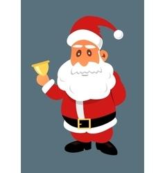 Santa claus with golden bell vector