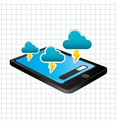 Mobile technology design vector