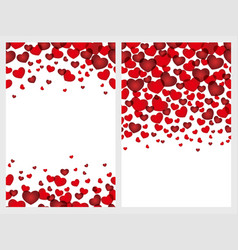 a set of seamless backgrounds for valentines day vector image vector image