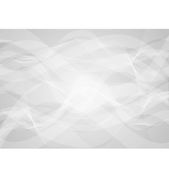 Abstract grey wavy background vector