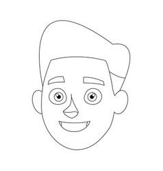 Avatar people man face head character vector