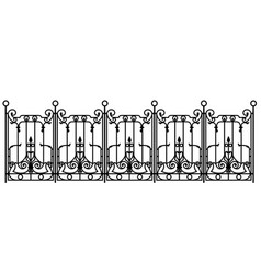 black forged fence vector image vector image