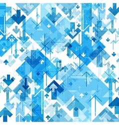 Blue Arrows Chaotic Pattern Abstract background vector image