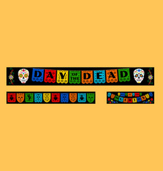 bunting for day of the dead vector image vector image