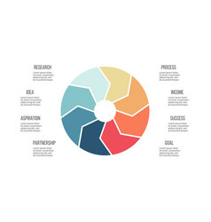 business infographics pie chart with 8 parts vector image
