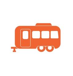 Camping trailer icon vector