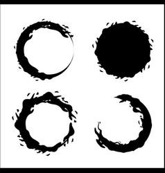 Contour bubbles of wine icon image vector